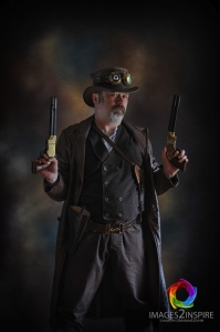 My 'Style' of Steampunk Photography. Natural light in Studio, processed with Nik Software